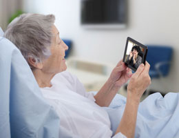 Staying connected with a hospitalized loved one